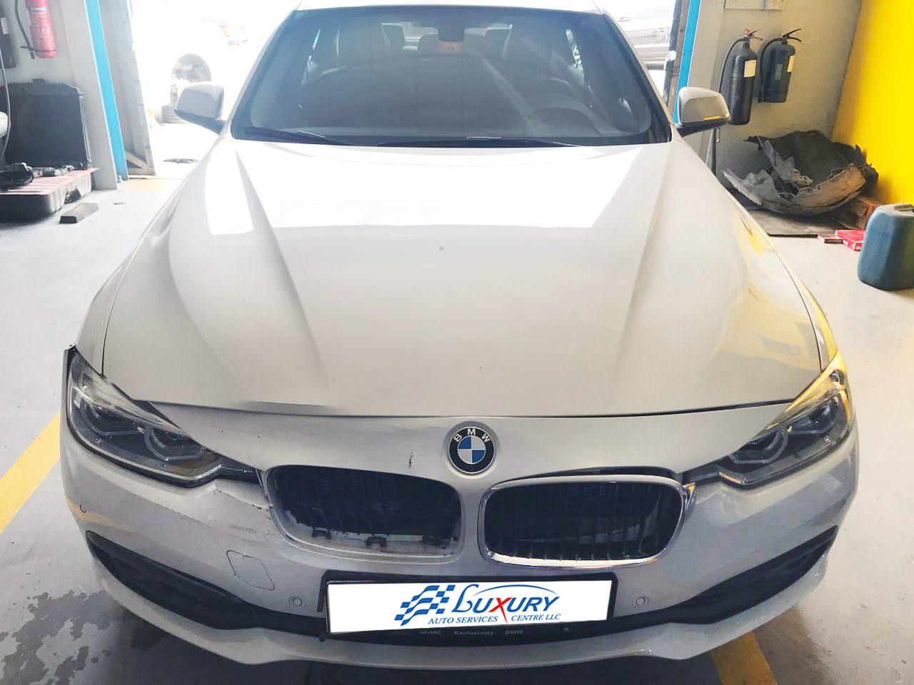 Bmw 318i Front Accident Repair Luxury Auto Service Dubai